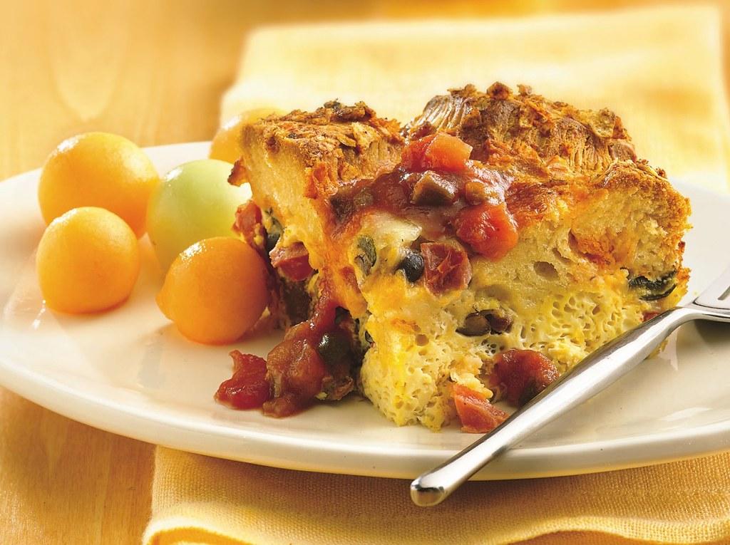 Poblano-Chorizo Egg Bake