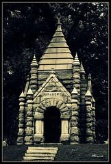 Mausoleum 2 (MEaves) Tags: cemetery stone sepia crossprocess tomb stlouis mausoleum missouri crypt antiquity sigma70300 k20d cgth pentaxk20d pentaxart