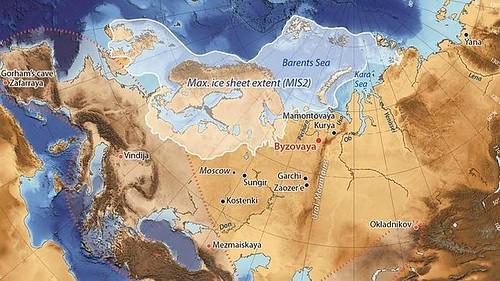 El mapa muestra la localización de Byzovaya