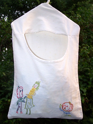 Prairie Dress Clothespin Bag Spring Doll Pattern