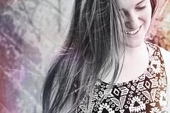 Allie (theakfraser) Tags: lighting light portrait blackandwhite bw white black texture beautiful smile hair nikon friend pretty allie leak leaks d90 nikond90 originalfilter