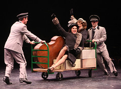 "(L to R) Brent Barrett (Joe/Josephine) and Jason Graae (Jerry/Daphne) in the musical Sugar, based on the film ""Some Like It Hot,"" produced by Music Circus at the Wells Fargo Pavilion July 23 -28, 2013. Photo by Charr Crail."