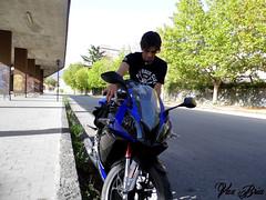 Toni (Valentina Bria) Tags: light boy green italian day sunny moto leath