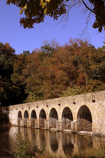 Cumberland Mountain State Park Stone Arch Bridge View #2