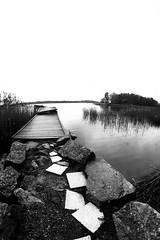 Northern Pier (Panda.*) Tags: sea bw white fish black eye suomi finland pier rocks turku or sony horizon fisheye slt amount eyp europeanyouthparliament samyang a99 slta99 kulkkilanranta