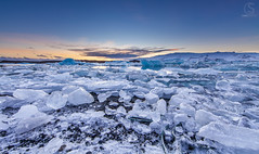Iceland Sunset at Fjallsarlon Glacial Lagoon, Iceland (TheAstroShake) Tags: