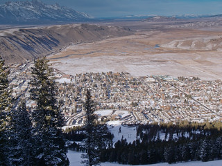 Jackson Wyoming and the Tetons from Snow King
