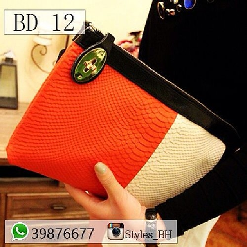 e8521e15c Orange Clutch Price: BD 12 Delivery available: BD 1 Whatsapp 39876677  @Styles_BH #