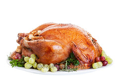 Turkey (Stevemc2011) Tags: thanksgiving christmas november food white holiday hot kitchen feast dinner turkey stuffing restaurant hotel uniform herbs coat cook dressing gourmet whitebackground meal grapes tray presentation cooked platter serving hospitality garnish roasted christmasdinner servingtray trimmings
