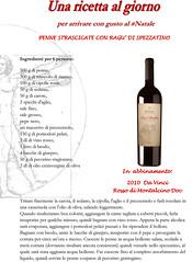 Una ricetta al giorno: penne strascicate (cantineleonardodavinci) Tags: christmas recipe wine davinci di montalcino natale rosso penne vino ricetta