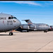 Two USAF and the first IAF C-17 on delivery checks.