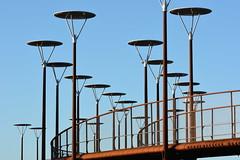 modern mushrooms (oxipang) Tags: bridge modern mushrooms zoetermeer brug westerpark paddestoelen fietsbrug waaijer