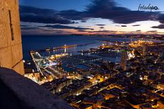RECIEN HECHA (-fotodepo-) Tags: sunset sea castle clouds puerto atardecer mar barcos alicante nubes crepusculo turismo castillo seaport crepuscular castillodesantabarbara fotodepo