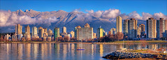 Vancouver's Winter Skyline (Clayton Perry Photoworks) Tags: winter panorama snow canada mountains sunshine skyline vancouver bc