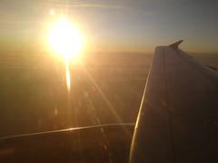 EasyJet Sunset (scotty NEX harper) Tags: sun clouds plane flying wing jet engine aeroplane tip flare easy