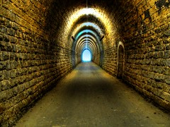 Charlys Tunnel (San M. Photography) Tags: architecture tube tunnel luxembourg luxemburg darkplaces