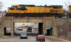 CNW 8646 @ Blue Island, IL (Michael Polk) Tags: ohio chicago north baltimore terminal western bo ihb cnw 8646 c449w yprcn