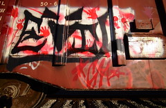 Evil Hands (jpmatth) Tags: color car digital yard train canon eos graffiti lenstagged illinois hands evil mk2 5d boxcar bloody handprints taylorville 2014 tokinaatxpro17mm35