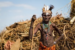 Matriarch (Universal Stopping Point) Tags: woman village tribal huts elderly omovalley ethiopia tribe omorate dassanech