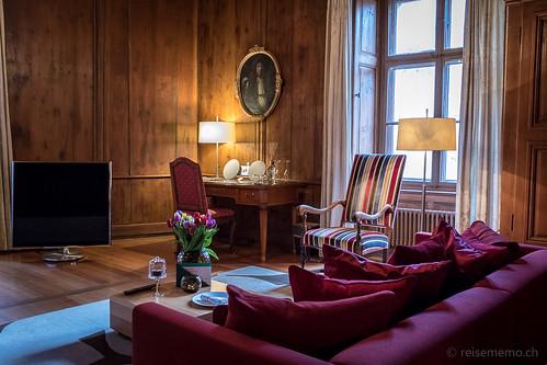 Zimmer Feuer im Schloss Schauenstein