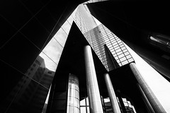 Diagonal shapes @ Rotterdam (PaulHoo) Tags: rotterdam city urban nikon d700 sun sunny 2017 diagonal holland netherlands shape light shadow angle low pov wideangle building architecture contrast reflection metal glass