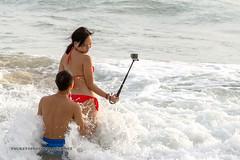 Couple at the beach. Nai Harn, Phuket, Thailand