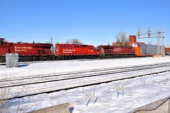 Trailing (Michael Berry Railfan) Tags: cp canadianpacific cp119 vaudreuilsub train freighttrain dorval montreal quebec
