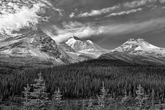 Canadian Roadside Billboards (Philip Kuntz) Tags: blackandwhite bw mono monochrome canadianrockies mountains peaks icefieldsparkway banff banffnationalpark alberta