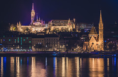 Budapest by night (Vagelis Pikoulas) Tags: budapest buda hungary europe travel photography long exposure night city cityscape river reflection reflections canon 6d tamron 70200mm vc colours november autumn 2016