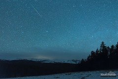12:52 Meteor (kevin-palmer) Tags: night sky stars starry astronomy astrophotography dark bighornmountains wyoming nikond750 march spring snow snowy midnight meteor sporadic shootingstar irix15mmf24 loafmountain overlook bighornpeak trees forest clouds buffalo green astrometrydotnet:id=nova2006896 astrometrydotnet:status=failed