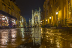 AFTER THE RAIN (Wizard CG) Tags: bath abbey england uk somerset gothic architecture olympus epl7 mzuiko digital ed 918mm world trekker building outdoor skyline city night road hall