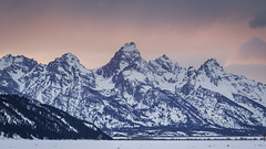 Grand Teton National Park (Jeremy Duguid) Tags: grand teton national park jackson hole wyoming nature landscape tetons beauty sunset dusk evening travel jeremy duguid sony peaks mountains winter snow trees hills west western usa outdoor outside outdoors