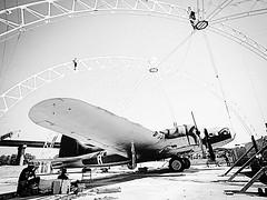 Memphis Belle 1987 (Peer Into The Past) Tags: ww2 aircraft peerintothepast mudisland tennessee memphis history blackandwhitephotography flyingfortress b17 memphisbelle