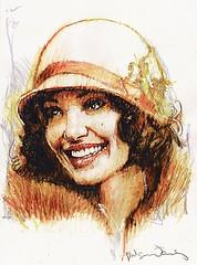 Angelina Jolie (arist - Bill Sienkiewicz) (KlaatuCarpenter) Tags: artwork portrait billsienkiewicz angelinajolie