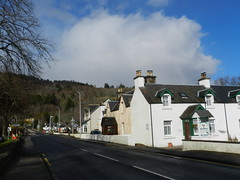 Welcome to Drumnadrochit, March 2017 (allanmaciver) Tags: drumnadrochit great glen blue sky white clouds road free after bright sunshine shower trees bed breakfast march allanmaciver loch ness urquhart castle