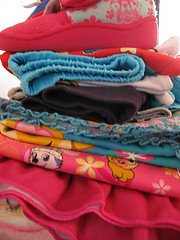 A pile of colour  103/365 (Ians365) Tags: clothing textile fashion multicolored cotton garment stack closet shirt blue folded collection colors casualclothing variation heap colours children 365 project365