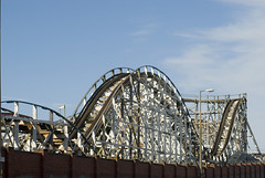 big dipper roller coaster (Photo Everywhere) Tags: blackpool lancashire uk england britishseaside britain resort ride attraction rollercoaster bigdipper wooden coaster old aged tatty