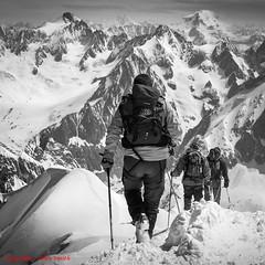 Aiguille du midi ridge (Alan Smith Photography) Tags: france htimsnala mountains landscape montblanc chamonix alps frenchalps montagne rhonealpes fr