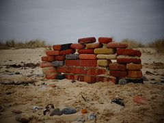 find bricks, build a wall. (Steph-nine) Tags: bricks coast wall covehithe reserve suffolk benacrebroad