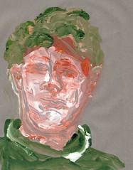 2016.01.22c Grey Day (Julia L. Kay) Tags: gelli gelliplate monoprint monotype print printmaking juliakay julialkay julia kay artist artista artiste künstler art kunst peinture dessin arte woman female sanfrancisco san francisco sketch dibujo selfportrait autoretrato daily everyday 365 self portrait portraiture face dpp dailyportraitproject