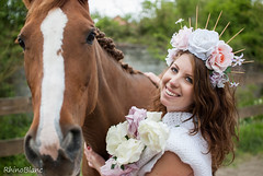 *  La Dame Aux RoseS  * (RhinoBlanc photographe) Tags: horse girl duo 30mm 35mm sigma 14 dg ex hsm french photographer photography beauty art roses flowers smile