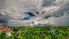 Blue Green White (Sanjiban2011) Tags: nature outdoor green clouds cloudscape monsoonclouds kolkata westbengal hdr landscape nikon d5100 nikon1024 wideangle