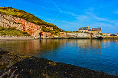Cove 08 April 2017-0021.jpg (JamesPDeans.co.uk) Tags: stone rock landscape ships reflection gb greatbritain industry fishingindustry bothy water borders northsea sea coast unitedkingdom harbour shore scotland britain geology sandstone house cottage architecture publicutilities cove europe uk fishermenshouses
