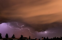 Charged! (Adriana Faciu) Tags: edmonton bolts charged afar thunderstorm weather clouds night skies active storm lightning thunder