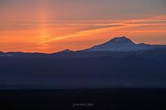 South Sister Sun Pillar (TierraCosmos) Tags: sunpillar sunset southsister mountain bend oregon landscape cascades