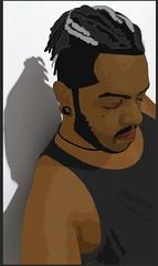 Samir Vector (Blue Anath) Tags: ilustração illustrator arte art digital retrato portrait black man nigga negro homem vector vetor