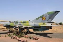 MiG-21UM TZ-375 c/n 516999341 ex Mali Air Force. Stored, Bamako-Sénou, Mali. December 2014. (Aircraft throughout the years) Tags: fishbed mikoyan gurevich mig21 mig21um tz375 cn 516999341 maliaf mali air force stored bamakosénou bamako senou armeedelairdumali december 2014