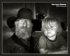 July 31 2011 - Grandfather and grandson in the Bighorn Mountains (La_Z_Photog) Tags: 073111burgessjunctionride lazy photog elliott photography bear lodge big horn mountains motorcycle ride