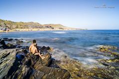 Niños en Calblanque reeditada (MCarballo) Tags: 2014 calblanque mar mediterraneo murcia playa seda tarde verano