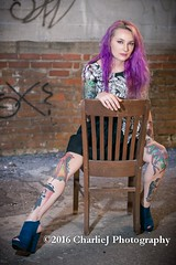 Model: Rusty (char1iej) Tags: charliej char1iej charliejphotography canon model modeling photoshoot wilmington nc carolina girl lovely beautiful pretty gorgeous sexy sultry eyes lips hair cute legs downtown tattoo piercing purplehair purple leather heels soft graffiti